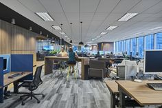 Realys Group has designed the new offices of financial services company Allianz, located in Singapore. Harnessing inspirations from Allianz's slogan, 'The Corporate Office Design, Workplace Design, Office Interior Design, Office Interiors, Office Designs, Office Workspace, Office Spaces, Work Spaces, Construction Services