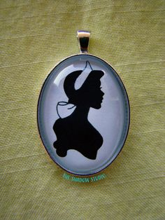 Princess Anastasia Silhouette Cameo Pendant Necklace by TheShadowStudio on Etsy
