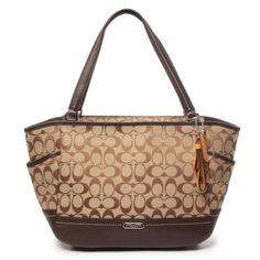 Coach Signature Stripe Backpack 21928 Khaki Mulberry   Purses   Backpacks,  Coach handbags, Striped backpack 0af7bd2f98