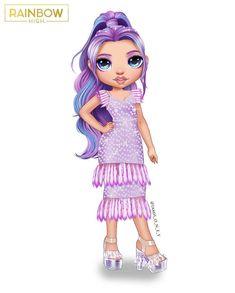 Chibi Girl Drawings, Kawaii Drawings, Rainbow Fashion, No Rain, Digital Art Girl, Magic Art, Lol Dolls, Barbie Dress, Black Girl Magic
