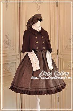 DearCeline -Winchester- Lolita Collar Jumper Dress Kawaii Fashion, Cute Fashion, Fashion Outfits, Hijab Fashion, Rococo Fashion, Lolita Fashion, Fantasy Dress, Drawing Clothes, Jumper Dress