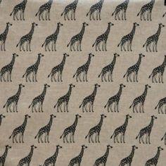 Giraffe linen oilcloth tablecloth