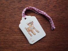 Reindeer Gift Tags by NattyMichelle on Etsy, $5.00