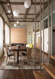 """Архитектурное бюро Шаболовка - дизайн интерьера квартиры """"Japanese minimalism apartment""""."""