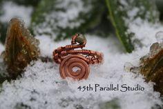 Tourmaline Copper Midi Ring by 45thParallelStudio