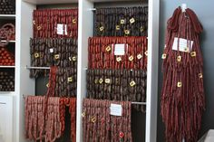 Spanish sausages.