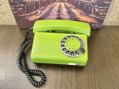 Vintage phone 1980s, Green phone, Old rotary phone, Circle dial rotary phone, Vintage landline phone, Old Dial Desk Phone, Retro phone, USSR Vintage Phones, Vintage Telephone, Retro Phone, Fur Accessories, Home Phone, Hat For Man, Rotary, Landline Phone