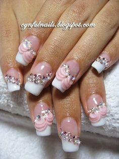 cute get fake nail cute for a weddig or something