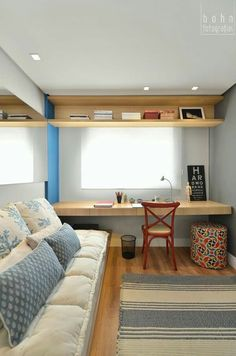 Browse pictures of home office design. Here are our favorite home office ideas that let you work from home. Shared them so you can learn how to work. Decor, Home, Home Office Design, Bedroom Design, Home Office Decor, Office Design, House Interior, Room Design, Home Deco