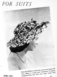 what-i-found: Hats - By And For Americans - 1947 - She Magazine