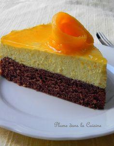 Génoise chocolat, mousse mangue : top (juste la mousse chantilly mangue à remplacer par mousse mascarpone citron + glaçage citron : miam !)