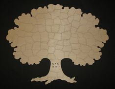 85 pc Wooden TREE Puzzle Guest Book - HAND CUT for wedding, anniversary, reunion, family tree guest book