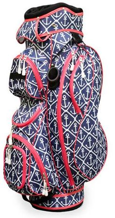 This great Golf Bag has it all! You've gotta check it out! By Classic Anchor All For Color Ladies Cart Golf Bag. #golf #golfbags #lorisgolfshoppe