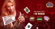Join now to Play Online Rummy and Get Rs. 50 Sign Up Bonus . Website https://www.diamondrummy.com