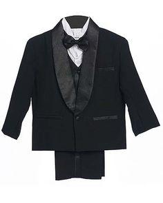 Black Baby Boy & Boys Tuxedo Special occasion suit, Complete Set, Jacket, Shirt, Vest & Pants, Bowtie