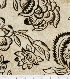45'' Home Essentials Print Fabric-Bircham/Onyx & home decor fabric at Joann.com
