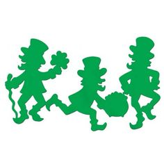 The Leprechaun Silhouettes are a great decorating item for that next St. Patrick's day or Irish theme party. Deco St Patrick, Leprechaun 2, St Patricks Day Cards, Saint Patricks, St Patrick's Day Decorations, Kobold, St Paddys Day, St Pats, Irish Eyes