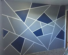 Geometric wall design for my teenage son. He LOVES it!