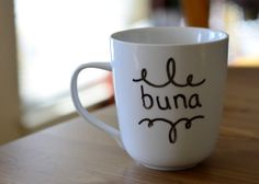 Ethiopian Inspired Coffee MugBuna  hand painted by EverydaySummit, $14.00 For all of you Coffee Lovers