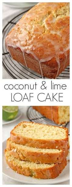 Coconut Lime Loaf Cake - easy loaf cake with coconut and lime flavor combo! Gorgeous!
