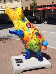 Pigs of Porkopolis, Cincinnati, OH – Monkey Stuffed Animal This Little Piggy, Little Pigs, National Pig Day, Cow Parade, Pot Belly Pigs, Pig Art, Cute Piggies, Pet Pigs, Animal Statues