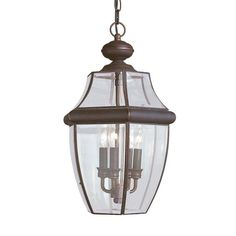 Seagull Lighting - Three Light Outdoor Pendant