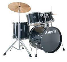 Sonor Stage 1, Smart Force Drum Set, Black, Includes Hardware & Pedal by Sonor. $499.00