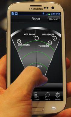 Pegatinas bluetooh 4.0.para localizar objetos desde un smartphone
