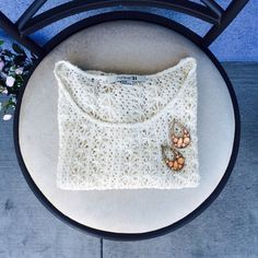 NWOT - Crochet Top  Bundle me!   Cute forever 21 top. Ivory/off white. Loose crop top. Never worn. Good as new. Forever 21 Tops Crop Tops