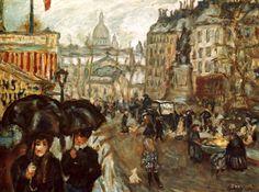 1895, vers La Place Clichy et le Sacre-Coeur / Pierre Bonnard