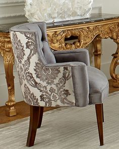 Shop Bright Tiffany Damask Chair from Haute House at Horchow, where you'll find new lower shipping on hundreds of home furnishings and gifts. Furniture Sale, Furniture Design, Victorian Sofa, Chair Price, Accent Furniture, Damask, Home Furnishings, Living Room Decor, Dining Chairs