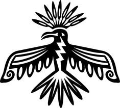 Collection of Native American Thunderbird Coloring Pages Native American Tattoos, Native American Symbols, Native American Design, Native Design, American Indian Art, Native American Patterns, Simple Tribal Tattoos, Tribal Bird Tattoos, Tattoo Bird