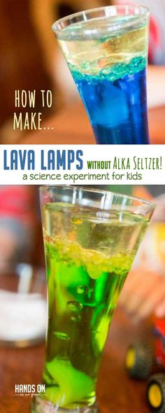 Learn how to make a lava lamp without Alka seltzer in this super easy at-home experiment! via @handsonaswegrow