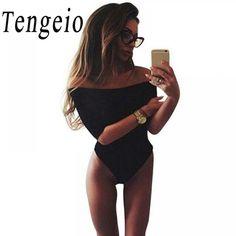 Tengeio Summer Women Fashion Black White 3 4 Sleeve Tops Sexy Slash Neck  Off Shoulder a551e7180
