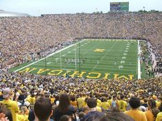 The Big House, Ann Arbor, MI -- so many weekends with the church teens, selling donuts and cider