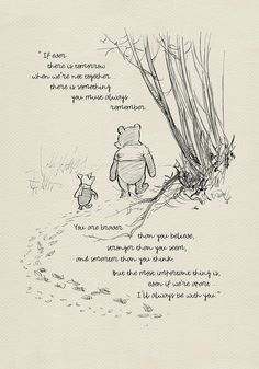You are braver than you believe...  - Winnie the Pooh Quotes - classic vintage style  poster print based on original drawing by E.H. Shepard by Poohland on Etsy https://www.etsy.com/listing/485714788/you-are-braver-than-you-believe-winnie
