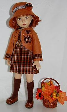 Autumn-Preview-Pleasingly-Plaid-fits-13-Effner-Little-Darling-5PC. SOLD BIN for $48.00 on 7/27/14.