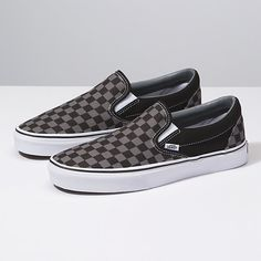 d3bc7b6c1f Checkerboard Slip-On Vans Slip On Black