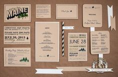 Custom #Wedding Brand Kit  Digital Files Only  by rpdesignandphoto, $250.00 Rehearsal Dinner Invitations, Bridal Shower Invitations, Invites, Wedding Branding, Wedding Stationery, Wedding Dinner Menu, Once Wed, Tent Cards, Wedding Save The Dates