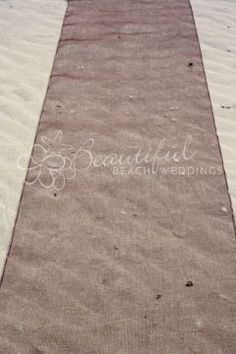 Ceremony Decoration :: Aisle Runners :: Mesh Aisle Runner - 5 colours - The Beach Wedding Shop