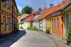 Photo about Summer day in Ystad in Southeast of Sweden, Colorful HDR photo. Image of house, road, alley - 34002969 Maalouf, Roads And Streets, Destinations, Scandinavian Countries, Lappland, Interior And Exterior, Traveling By Yourself, Architecture Design, Summer