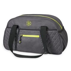 jess - gray and lime -- Gaiam Yoga Duffle Bag