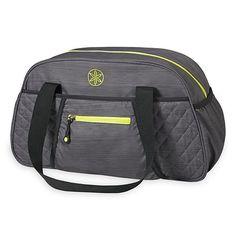 jess - gray and lime -- Gaiam Yoga Duffle Bag
