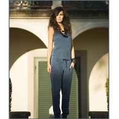 #40weft S/S 2015 #womencollection #jumpsuit #lightfleece #indigo #golook #repin #contactus www.40weft.com