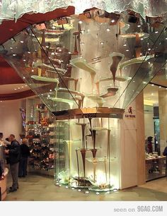 """Extreme chocolate fountain"" At the Bellagio, Las Vegas"