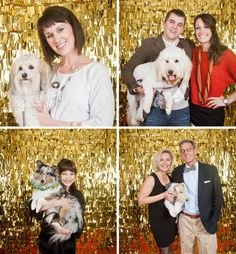 """Oscar Party - Fun backdrop for pictures!    All you need is gold foil tissue paper (I got this at Michael's in their wrapping aisle), muslin or other lightweight fabric, a hot glue gun and scissors!  I cut my tissue paper in strips 4"""" high and fringed them with the scissors.  Then, using the hot glue gun, start from the bottom and work your way up, layering the fringe.  That's it!"""