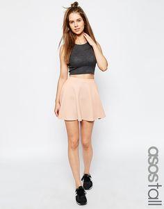 ASOS+TALL+Skater+Skirt+In+Texture