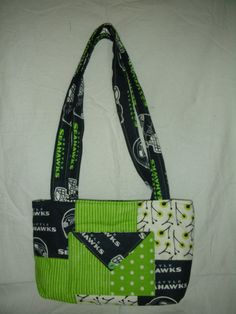 Seahawk Mini Charmer Purse/Bag by QuiltingMyWay on Etsy