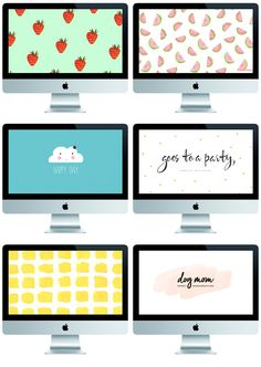 1. STRAWBERRIES 2. WATER MELONS 3.HAPPY DAY 4. PARTY DOGS (MY FAVORITE!) 5. YELLOW 6. DOG MOM (MY SECOND FAVORITE!) Handy Wallpaper, Mac Wallpaper, Macbook Wallpaper, Computer Wallpaper, Wallpaper Downloads, Wallpaper Backgrounds, Wallpaper Ideas, Cool Desktop Wallpapers, Mac Desktop