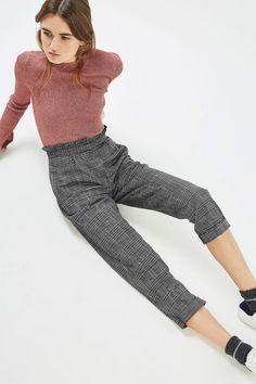 Ruffle Check Mensy Trousers | Topshop
